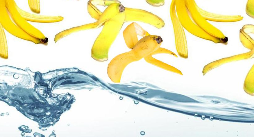 Como purificar a água com casca de banana?